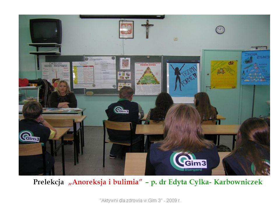 Prelekcja Anoreksja i bulimia – p. dr Edyta Cylka- Karbowniczek
