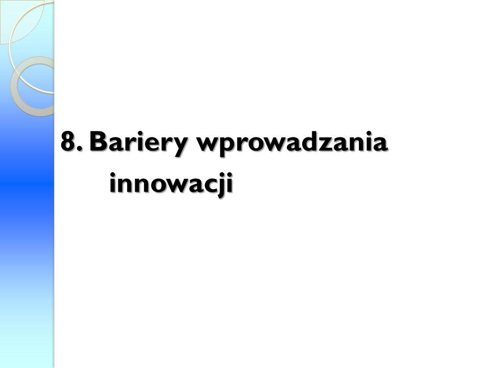 8. Bariery wprowadzania innowacji