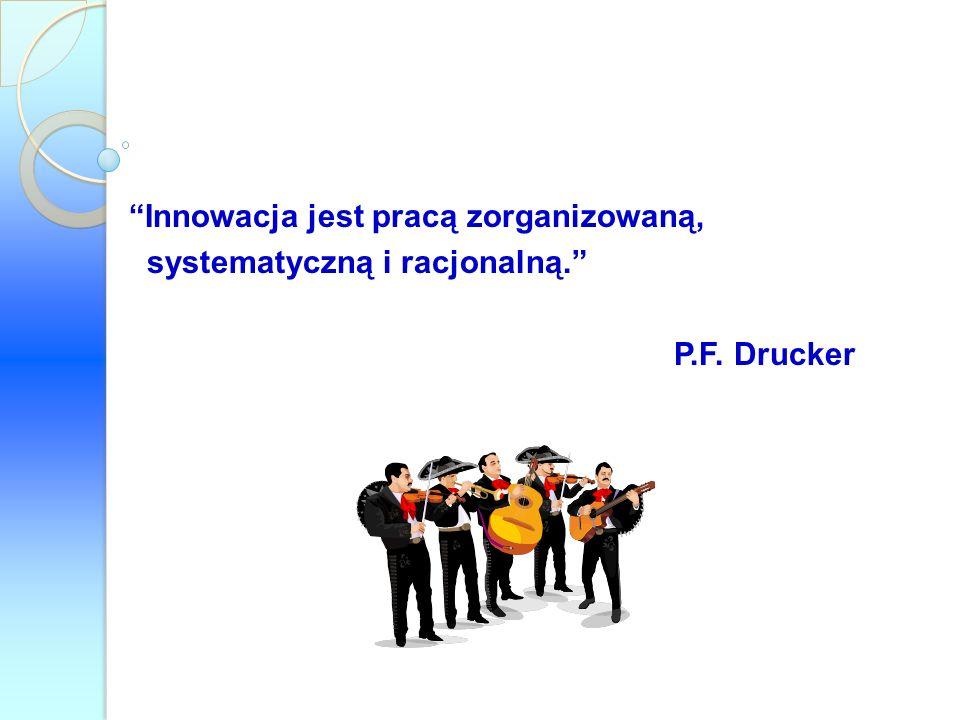 Innowacja jest pracą zorganizowaną, systematyczną i racjonalną. P.F. Drucker