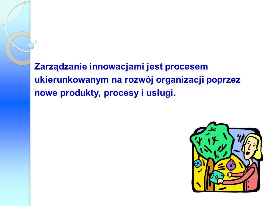 Zarządzanie innowacjami jest procesem ukierunkowanym na rozwój organizacji poprzez nowe produkty, procesy i usługi.