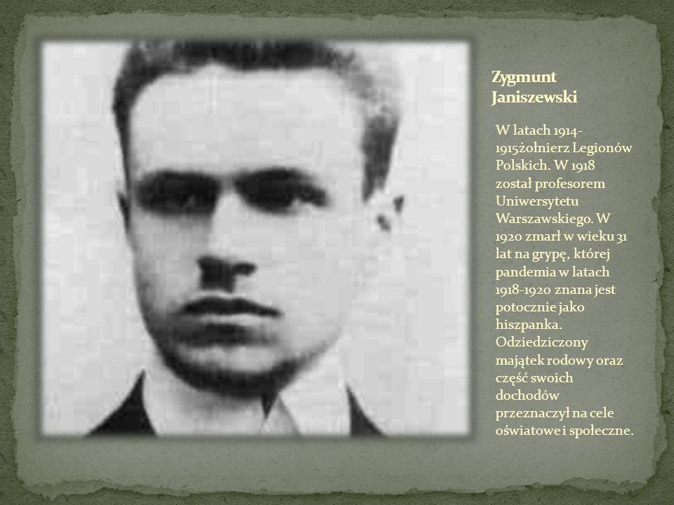 W latach 1914- 1915żołnierz Legionów Polskich. W 1918 został profesorem Uniwersytetu Warszawskiego. W 1920 zmarł w wieku 31 lat na grypę, której pande