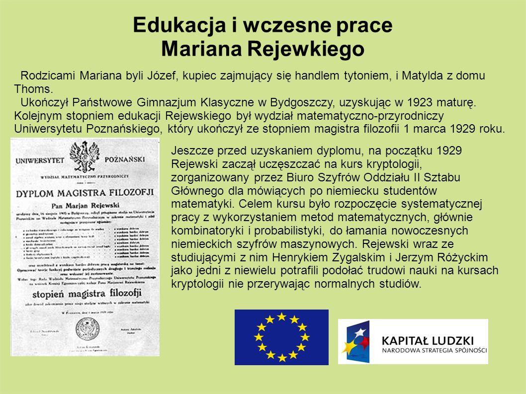 Rodzicami Mariana byli Józef, kupiec zajmujący się handlem tytoniem, i Matylda z domu Thoms. Ukończył Państwowe Gimnazjum Klasyczne w Bydgoszczy, uzys