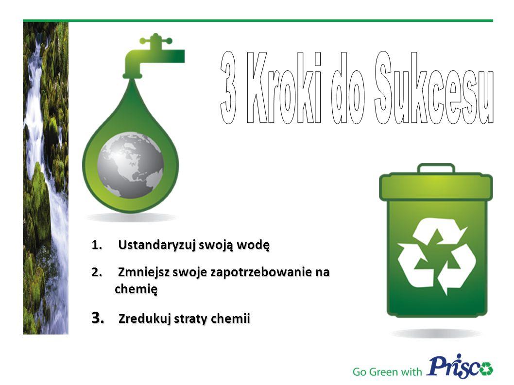 1. Ustandaryzuj swoją wodę 2. Zmniejsz swoje zapotrzebowanie na chemię 3. Zredukuj straty chemii