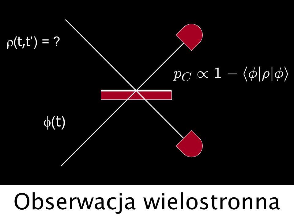 Obserwacja wielostronna ( t,t ) = ? ( t )