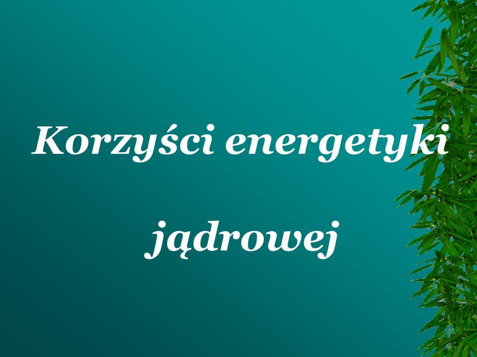 Energia wytwarzana w elektrowniach jądrowych na całym świecie stanowi blisko 17% ogólnie wytwarzanej energii.