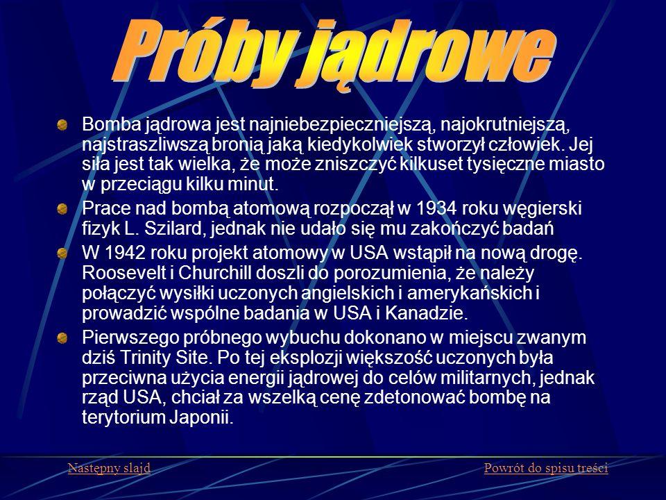 Sytuacja radiacyjna Ogólną sytuację radiacyjną w środowisku charakteryzują obecnie następujące wartości: poziom promieniowania gamma obrazujący zewnętrzne narażenie ludzi od naturalnych i sztucznych źródeł promieniowania jonizującego stężenia naturalnych i sztucznych izotopów promieniotwórczych w komponentach środowiska obrazującego narażenie wewnętrzne ludzi w wyniku chłonięcia ich drogą pokarmową Sytuacja radiacyjna Polski Spis treści