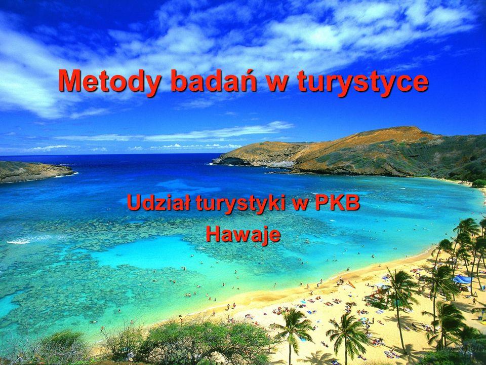Metody badań w turystyce Udział turystyki w PKB Hawaje