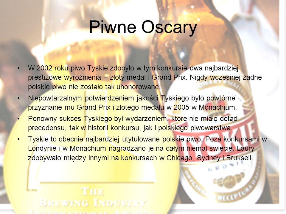 Piwne Oscary W 2002 roku piwo Tyskie zdobyło w tym konkursie dwa najbardziej prestiżowe wyróżnienia – złoty medal i Grand Prix.