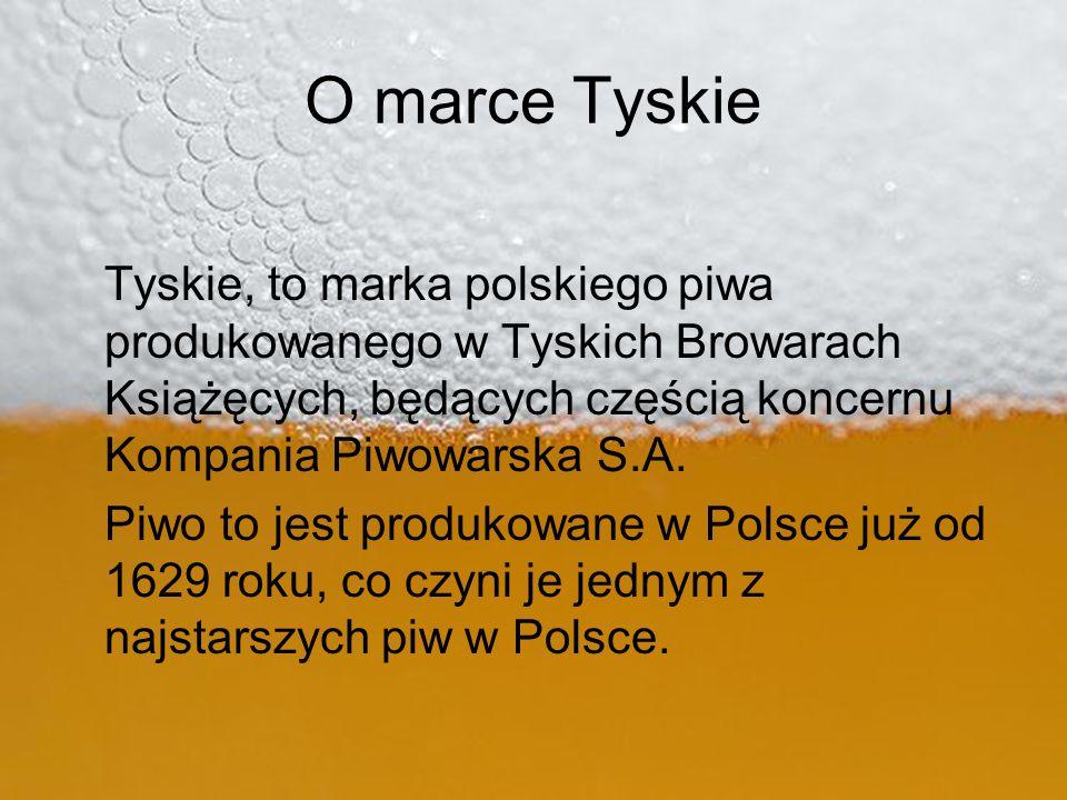 O marce Tyskie Tyskie, to marka polskiego piwa produkowanego w Tyskich Browarach Książęcych, będących częścią koncernu Kompania Piwowarska S.A.