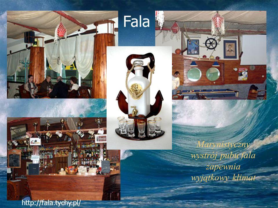 Marynistyczny wystrój pubu fala zapewnia wyjątkowy klimat http://fala.tychy.pl/ Fala
