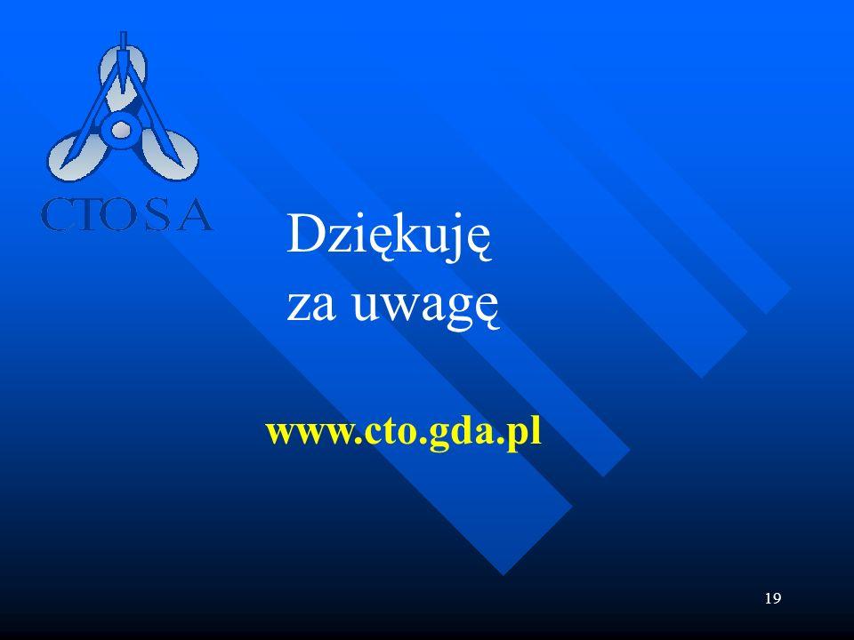 19 Dziękuję za uwagę www.cto.gda.pl