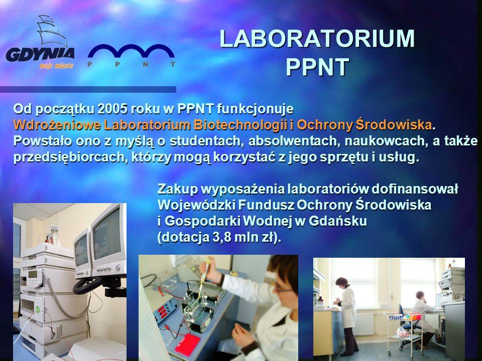 Od początku 2005 roku w PPNT funkcjonuje Wdrożeniowe Laboratorium Biotechnologii i Ochrony Środowiska. Powstało ono z myślą o studentach, absolwentach