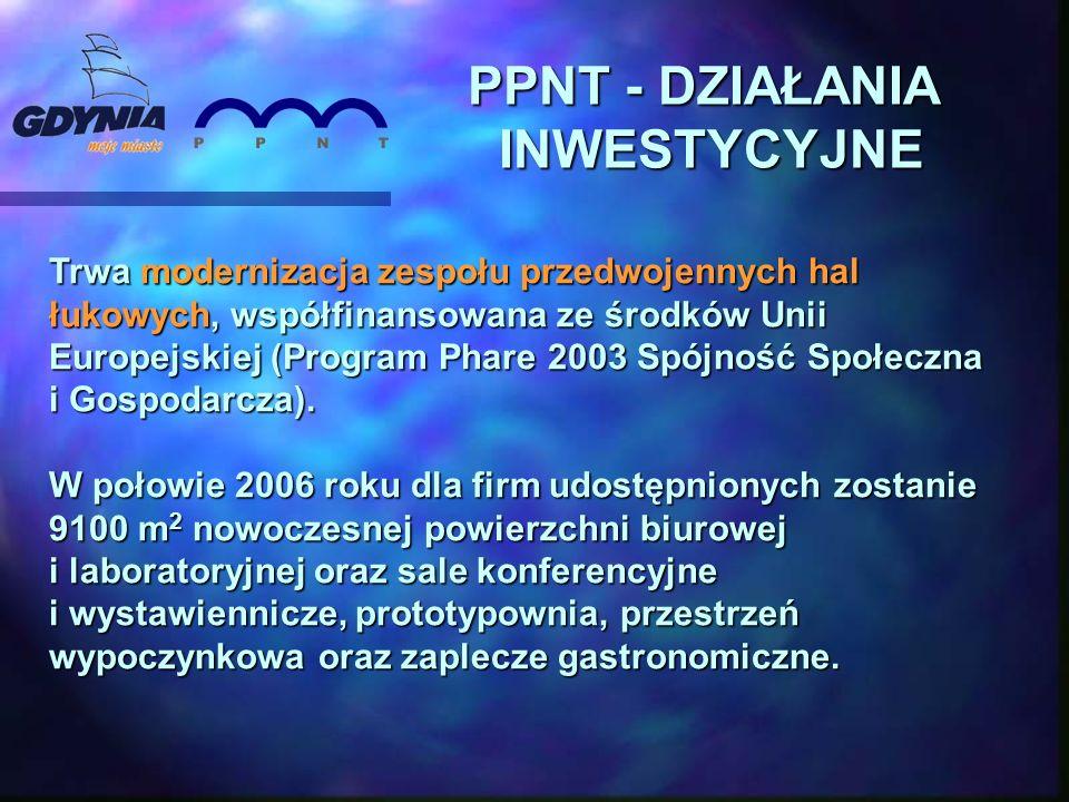 PPNT - DZIAŁANIA INWESTYCYJNE Trwa modernizacja zespołu przedwojennych hal łukowych, współfinansowana ze środków Unii Europejskiej (Program Phare 2003