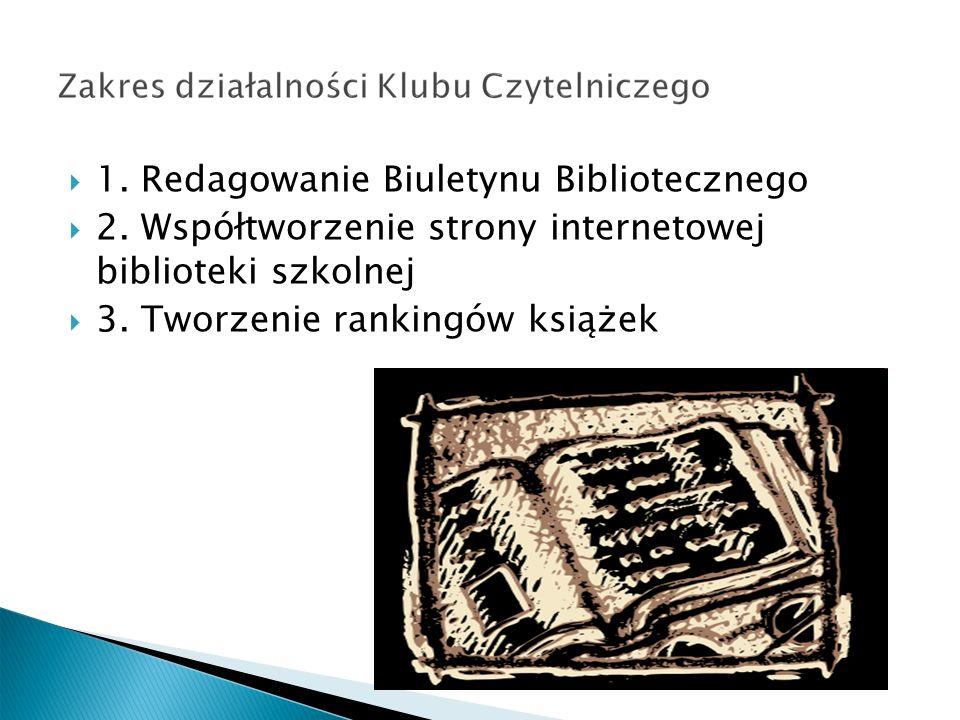 1. Redagowanie Biuletynu Bibliotecznego 2.