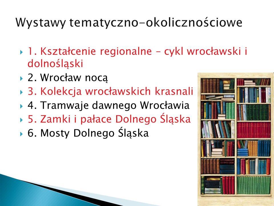 1. Kształcenie regionalne – cykl wrocławski i dolnośląski 2.