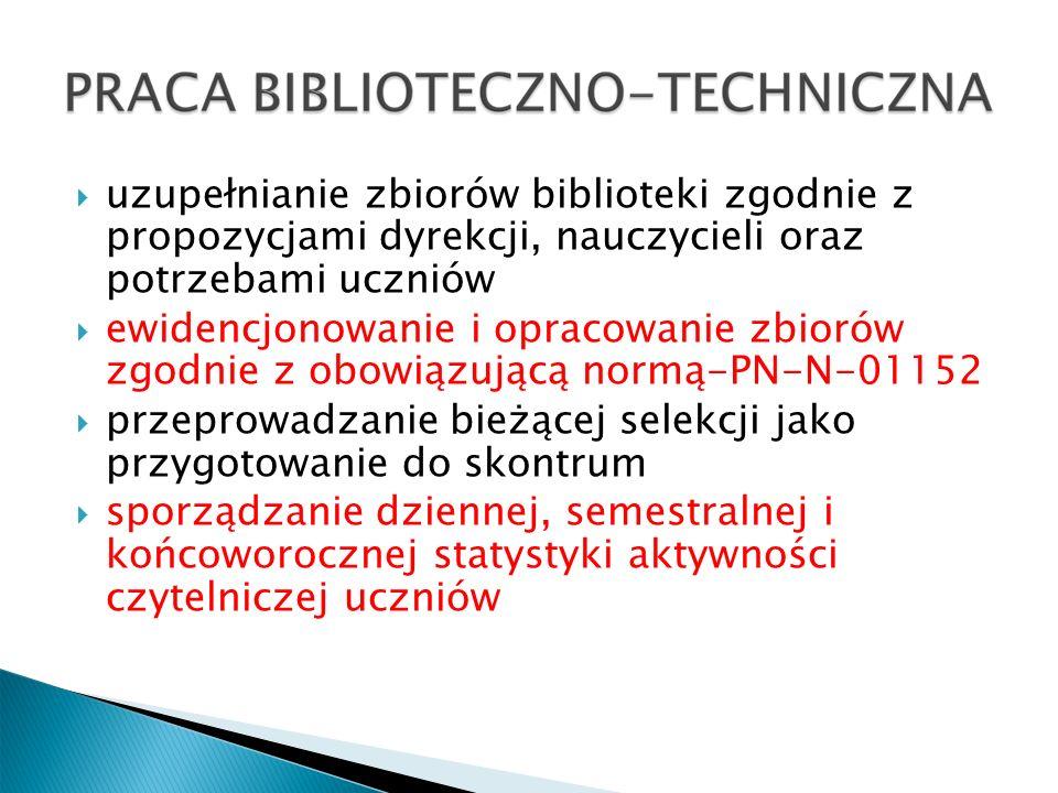 Lekcje biblioteczne – kl.