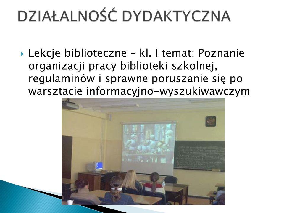 Wyjścia dydaktyczne do bibliotek wrocławskich: kl.