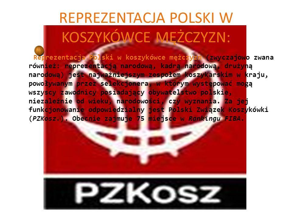 REPREZENTACJA POLSKI W KOSZYKÓWCE MĘŻCZYZN: Reprezentacja Polski w koszykówce mężczyzn (zwyczajowo zwana również: reprezentacją narodową, kadrą narodo