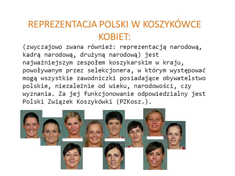 REPREZENTACJA POLSKI W KOSZYKÓWCE KOBIET: (zwyczajowo zwana również: reprezentacją narodową, kadrą narodową, drużyną narodową) jest najważniejszym zes