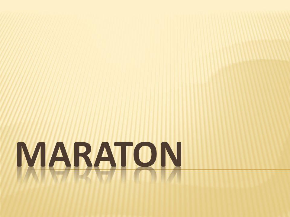 Bieg maratoński bieg na dystansie 42 km 195 metrów.