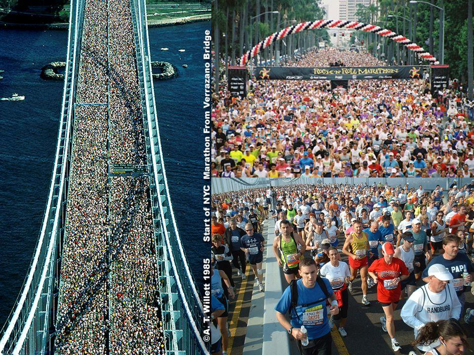 Obecnie maratony rozgrywane są praktycznie na całym świecie nawet w miejscach tak ekstremalnych jak: pustynia (Sahara-Marathon w Tunezji) czy biegun (Antarktika-Marathon).