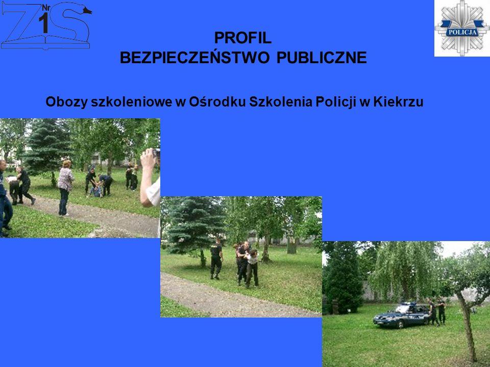 PROFIL BEZPIECZEŃSTWO PUBLICZNE Obozy szkoleniowe w Ośrodku Szkolenia Policji w Kiekrzu
