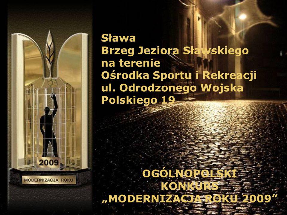 Sława Brzeg Jeziora Sławskiego na terenie Ośrodka Sportu i Rekreacji ul.