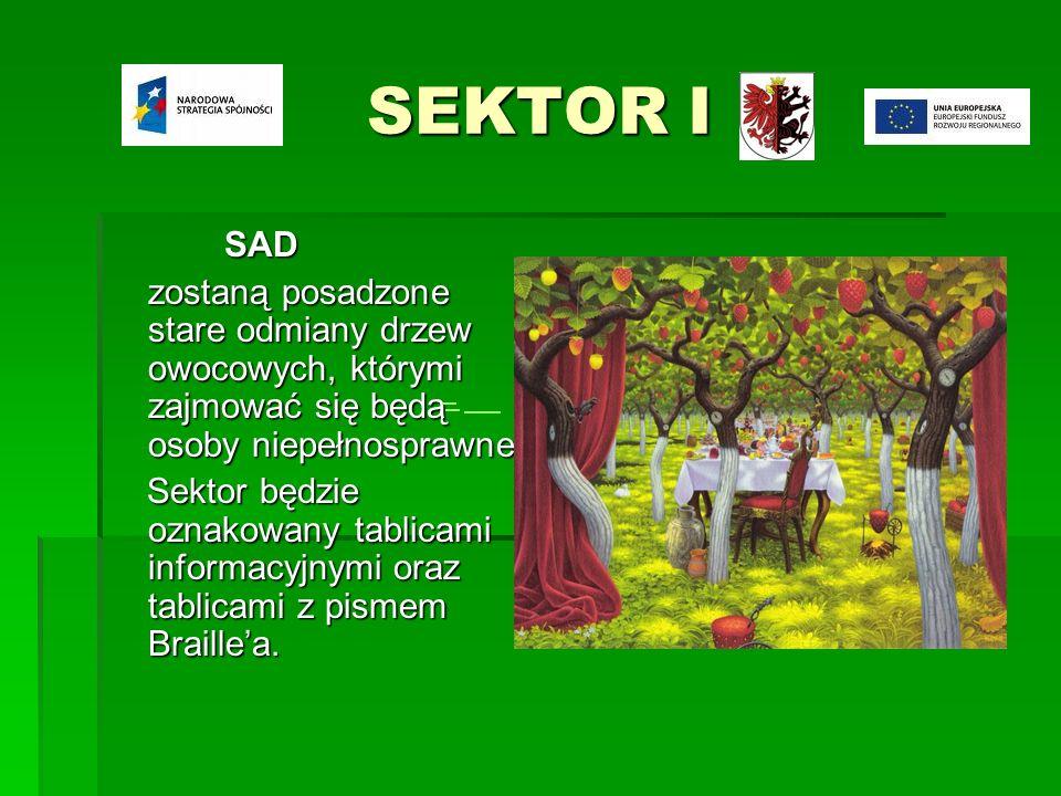 SEKTOR I SAD SAD zostaną posadzone stare odmiany drzew owocowych, którymi zajmować się będą osoby niepełnosprawne.