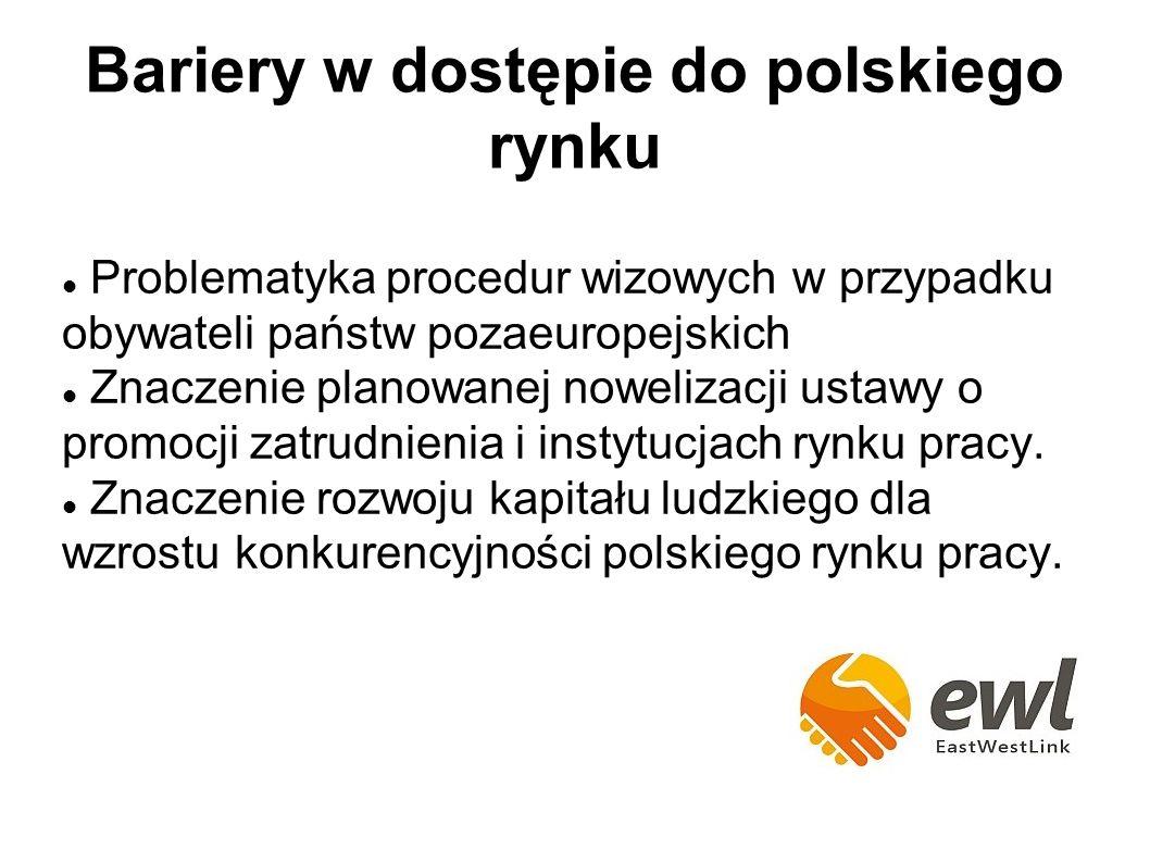 Problematyka procedur wizowych w przypadku obywateli państw pozaeuropejskich Znaczenie planowanej nowelizacji ustawy o promocji zatrudnienia i instytucjach rynku pracy.