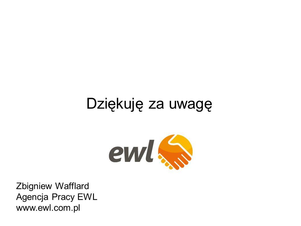 Dziękuję za uwagę Zbigniew Wafflard Agencja Pracy EWL www.ewl.com.pl
