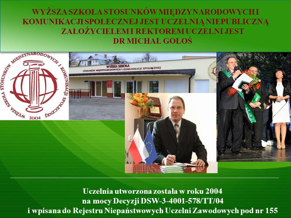 Wyższa Szkoła Stosunków Międzynarodowych i Komunikacji Społecznej w Chełmie - dr Ryszard SUDUŁ Warszawa, dnia 6 grudnia 2012 r.