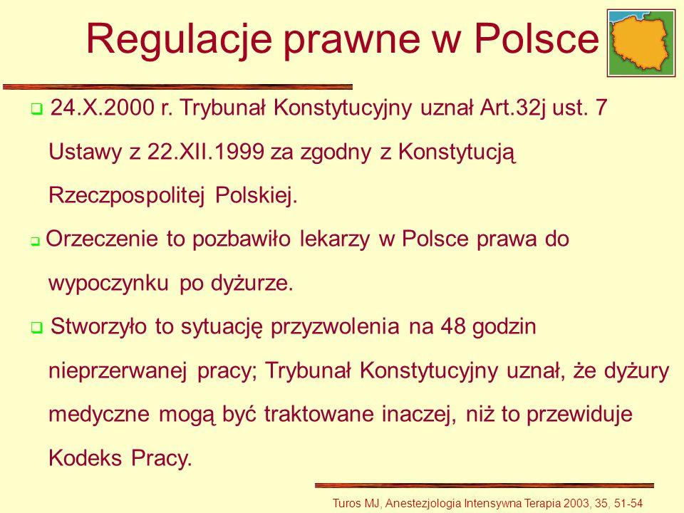 24.X.2000 r. Trybunał Konstytucyjny uznał Art.32j ust. 7 Ustawy z 22.XII.1999 za zgodny z Konstytucją Rzeczpospolitej Polskiej. Orzeczenie to pozbawił