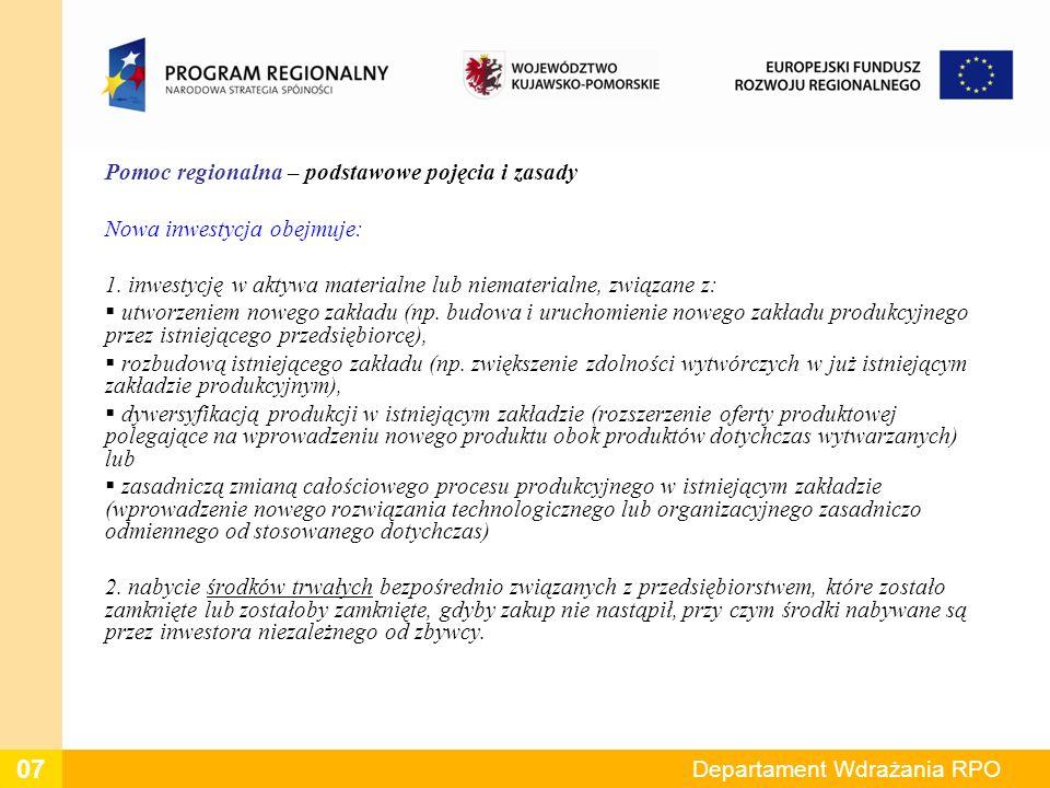 Dziękuję za uwagę Kontakt:Tel: (056) 656 11 00, (056) 656 10 50 E-mail:Informacja_rpo@kujawsko-pomorskie.pl Departament Wdrażania RPO 18