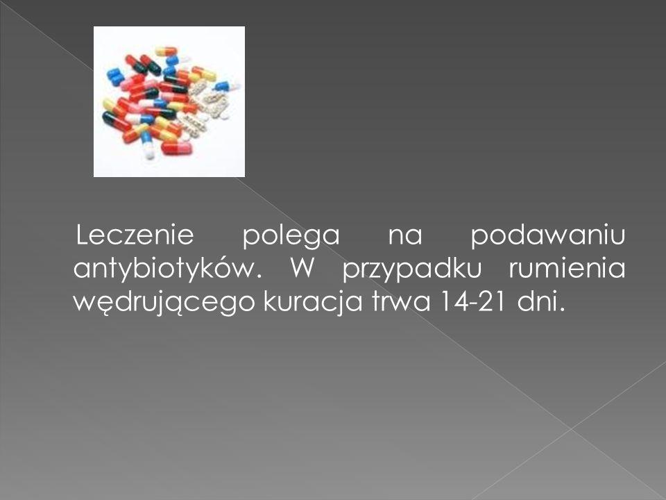 Leczenie polega na podawaniu antybiotyków. W przypadku rumienia wędrującego kuracja trwa 14-21 dni.