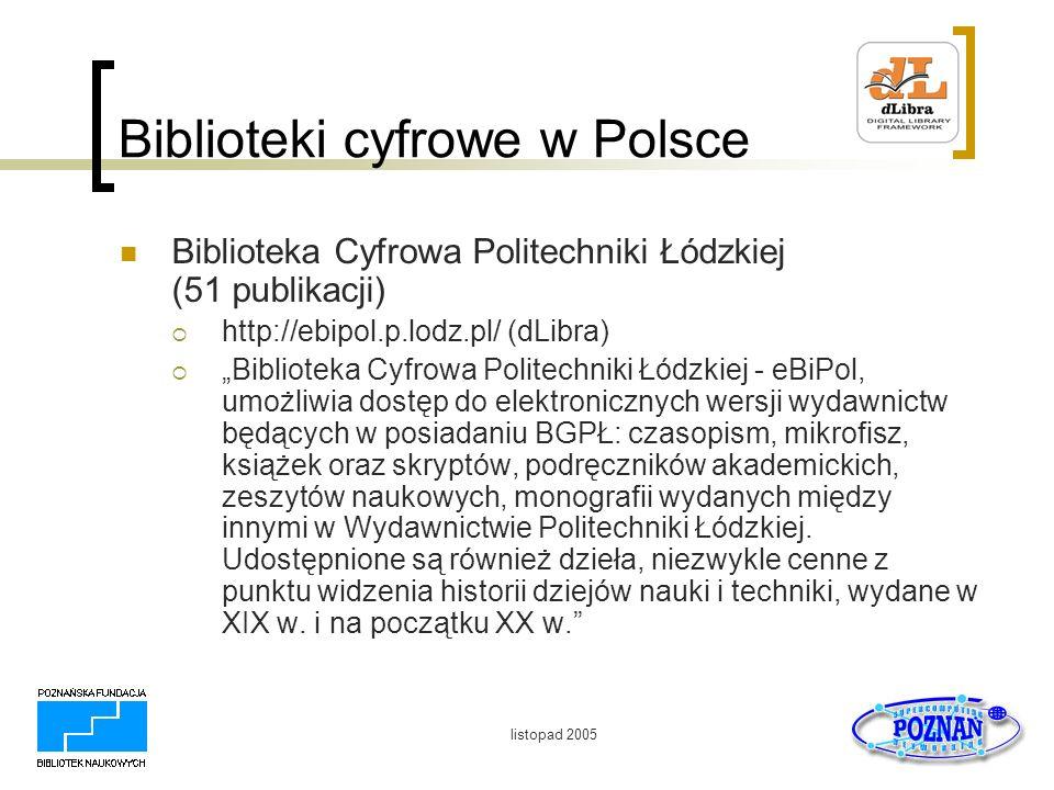 listopad 2005 i2010: Digital Libraries Zaproszenie do konsultacji on-line 8.
