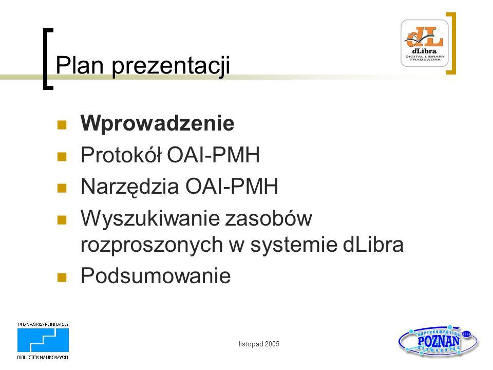 listopad 2005 Podsumowanie W Polsce mamy: Coraz więcej bibliotek cyfrowych Bardzo szybką i nowoczesną sieć PIONIER Ograniczenia technologiczne są stosunkowo łatwe do pokonania Pozostają kwestie organizacyjne i finansowe…………………………..