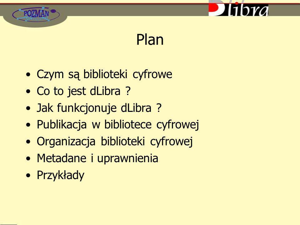 Plan Czym są biblioteki cyfrowe Co to jest dLibra .