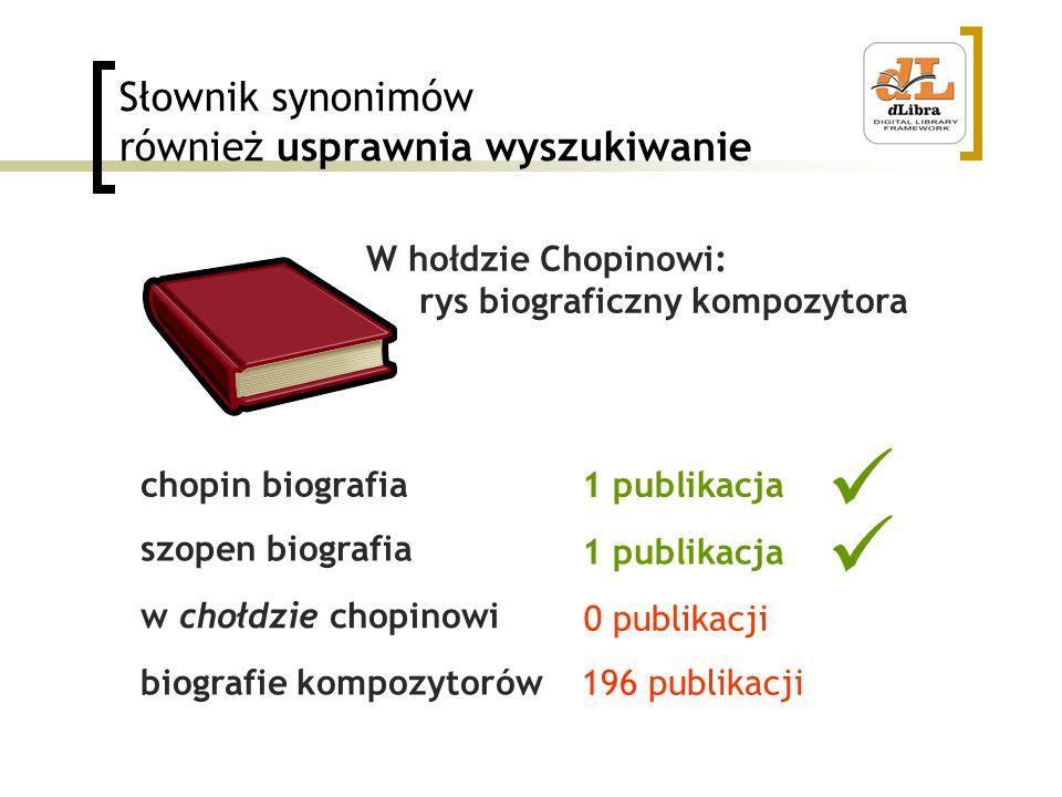 Słownik synonimów również usprawnia wyszukiwanie chopin biografia szopen biografia w chołdzie chopinowi biografie kompozytorów W hołdzie Chopinowi: ry