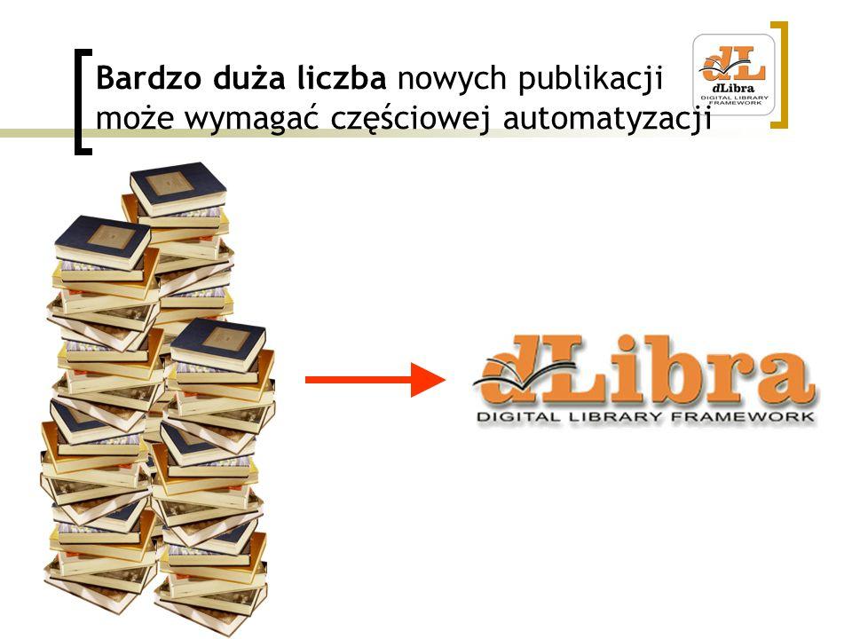 Bardzo duża liczba nowych publikacji może wymagać częściowej automatyzacji