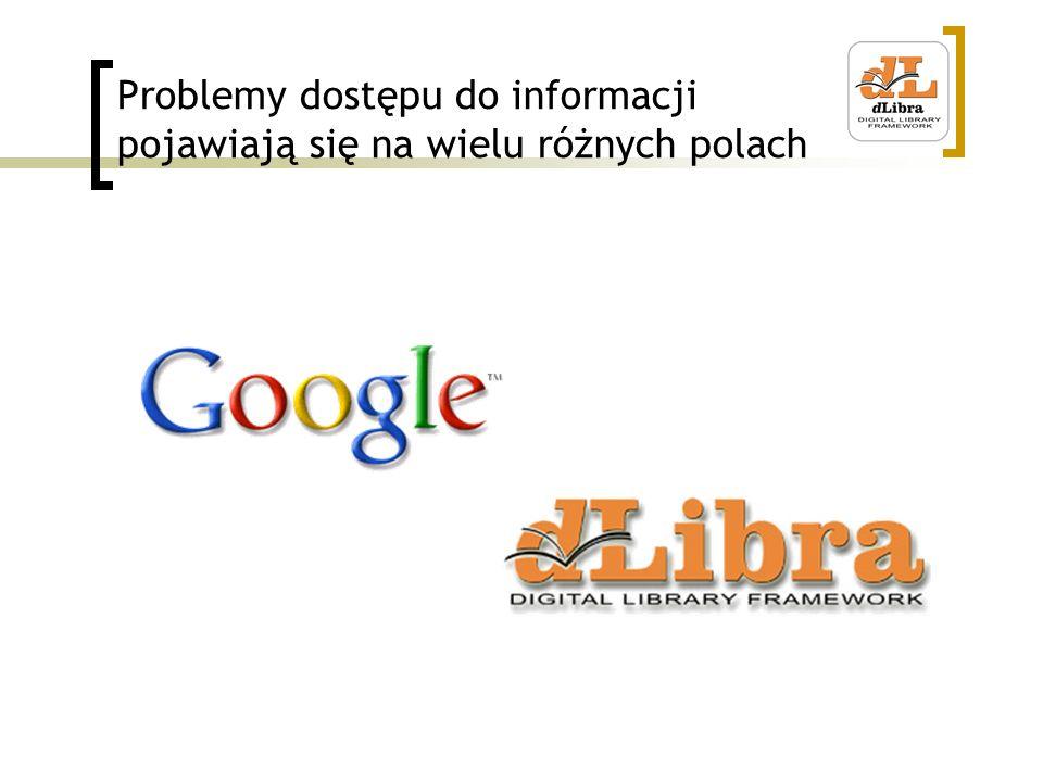Problemy dostępu do informacji pojawiają się na wielu różnych polach