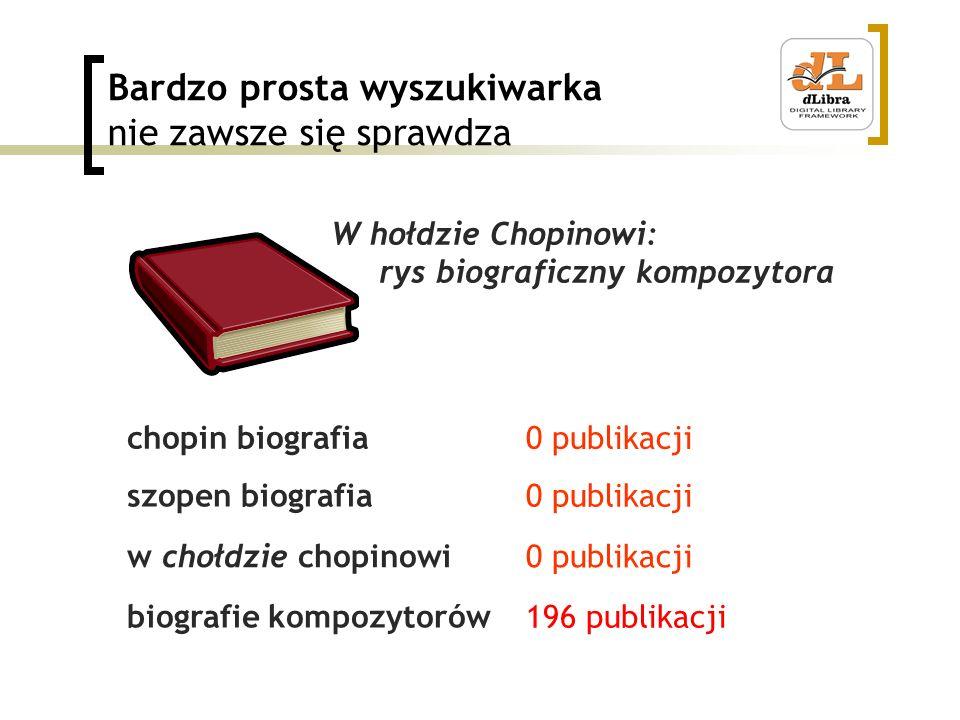 Bardzo prosta wyszukiwarka nie zawsze się sprawdza chopin biografia szopen biografia w chołdzie chopinowi biografie kompozytorów W hołdzie Chopinowi: rys biograficzny kompozytora 0 publikacji 196 publikacji