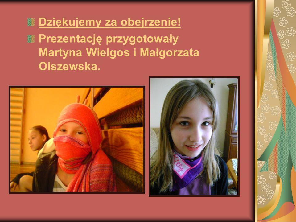Dziękujemy za obejrzenie! Prezentację przygotowały Martyna Wielgos i Małgorzata Olszewska.