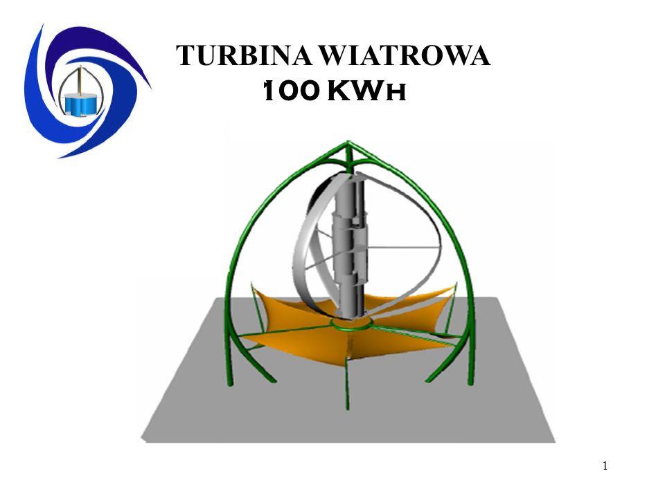 1 TURBINA WIATROWA 100 KWh