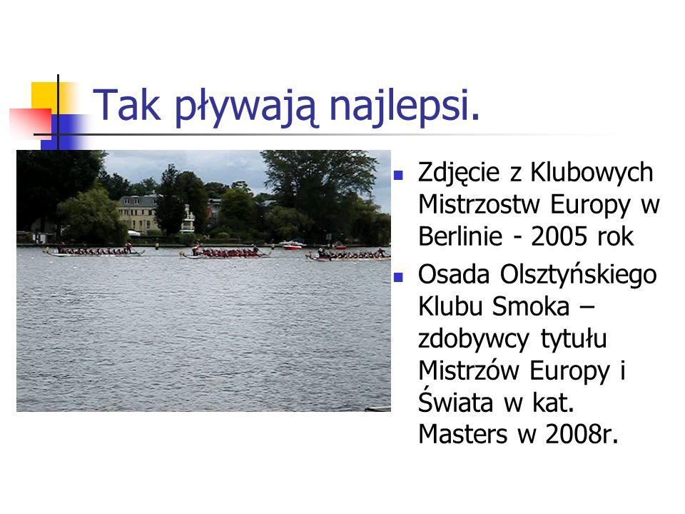 Tak pływają najlepsi.