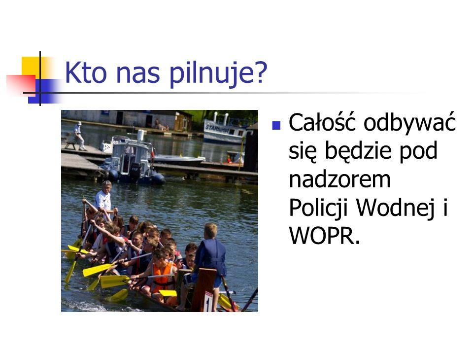 Kto nas pilnuje Całość odbywać się będzie pod nadzorem Policji Wodnej i WOPR.
