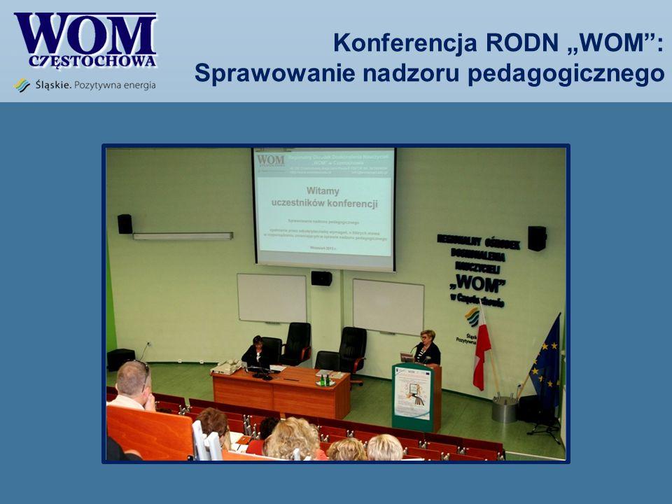 Konferencja RODN WOM: Sprawowanie nadzoru pedagogicznego