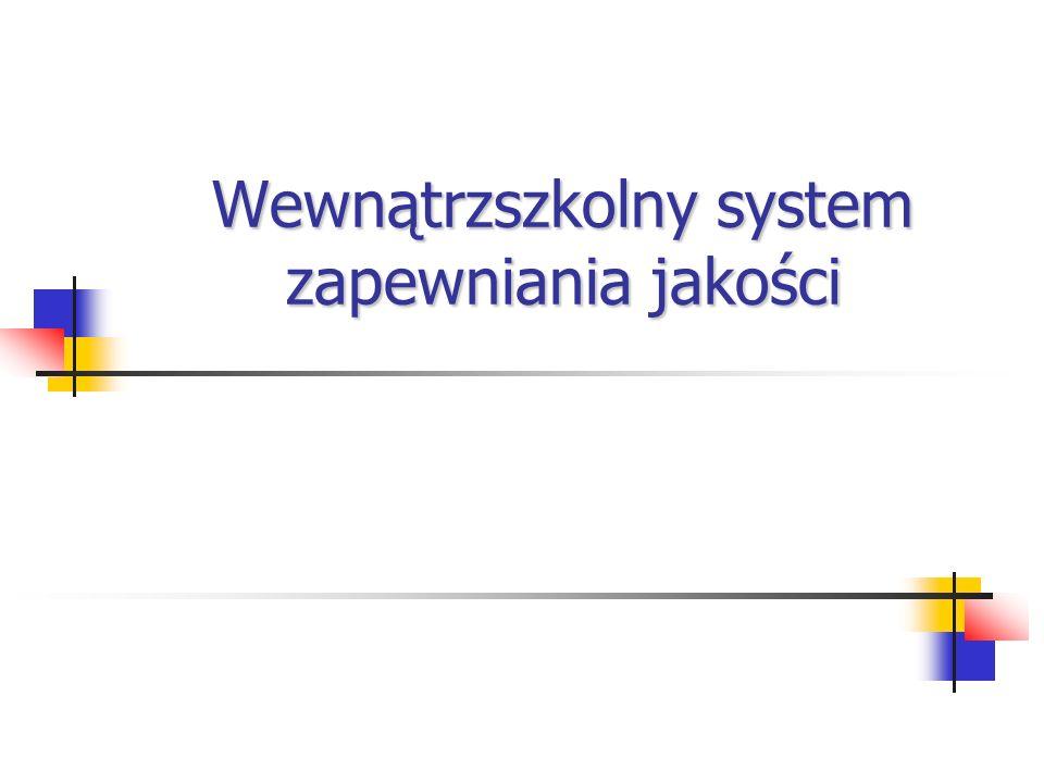 Wewnątrzszkolny system zapewniania jakości