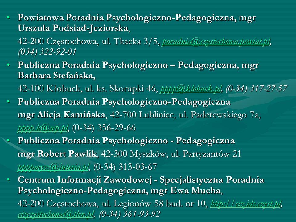 Powiatowa Poradnia Psychologiczno-Pedagogiczna, mgr Urszula Podsiad-Jeziorska,Powiatowa Poradnia Psychologiczno-Pedagogiczna, mgr Urszula Podsiad-Jezi