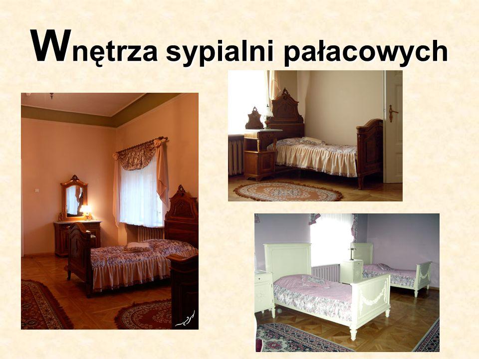 W nętrza sypialni pałacowych