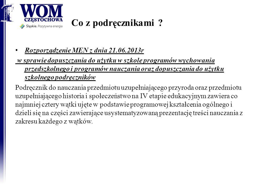 Co z podręcznikami ? Rozporządzenie MEN z dnia 21.06.2013r w sprawie dopuszczania do użytku w szkole programów wychowania przedszkolnego i programów n